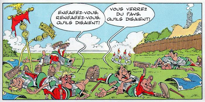 Crédits R. Goscinny et A. Uderzo - Le Tour de Gaule d'Astérix, 1965