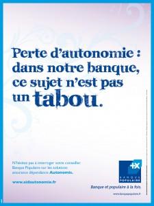 Affiche Autonomis Assurances Banque Populaire