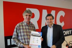 Alain Caudrelier, DG de Plan France, et Jean-Jacques Bourdin de RMC