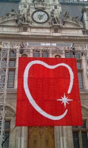 coeur des battants fédécardio - parvis de l'hôtel de ville de Paris