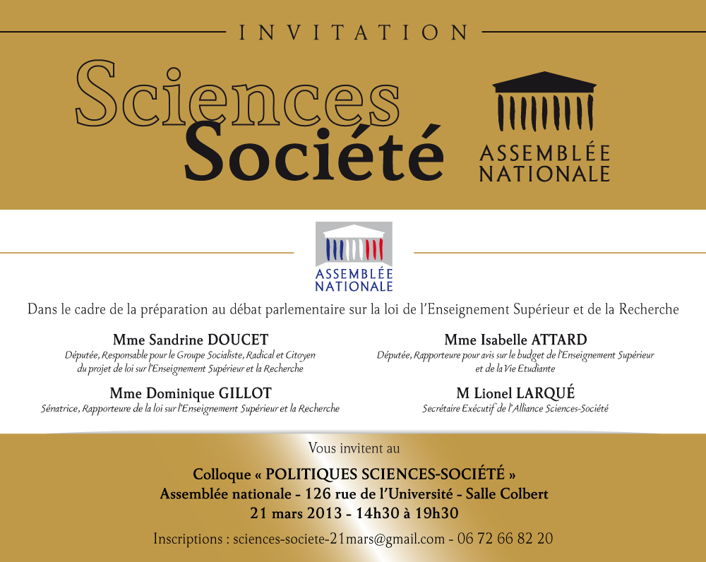 Alliance Sciences Société colloque