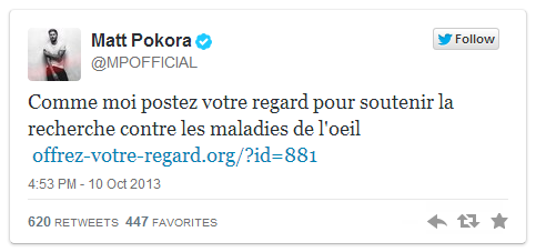 Tweet Matt Pokora