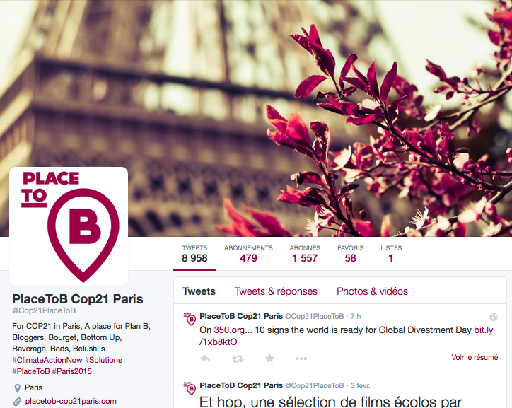 P2B Compte Twitter