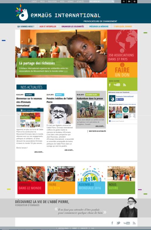 Le nouveau site Emmaüs International