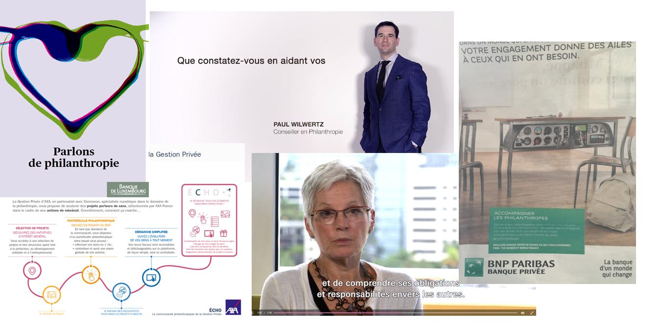 Communication philanthropie banque